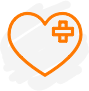 Heart with bandaid icon