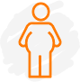Obese person icon